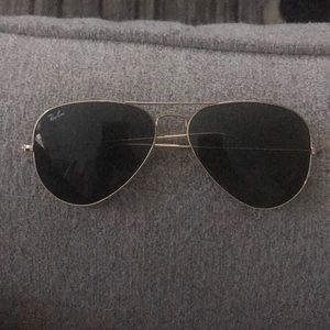 Ray Ban Gold Aviator Sunglasses